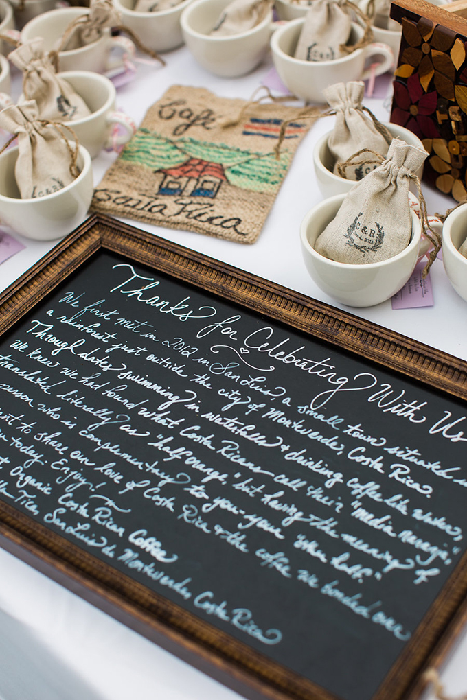 coffe wedding favors | Casto Photography & Cinema | Glamour & Grace