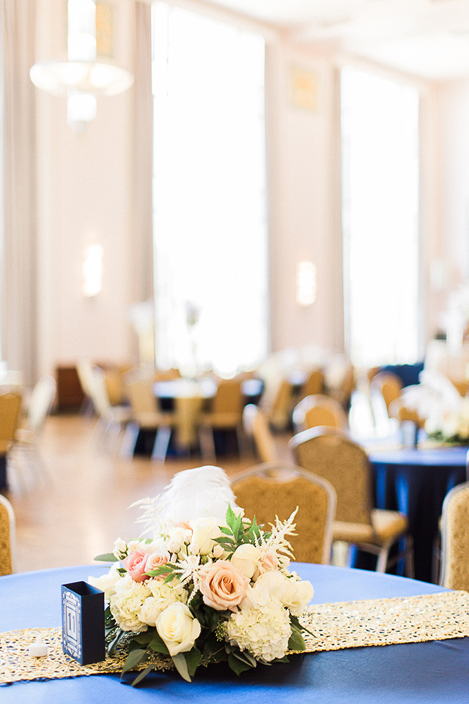 art deco blue and gold wedding | Fleckography Co. | Glamour & Grace