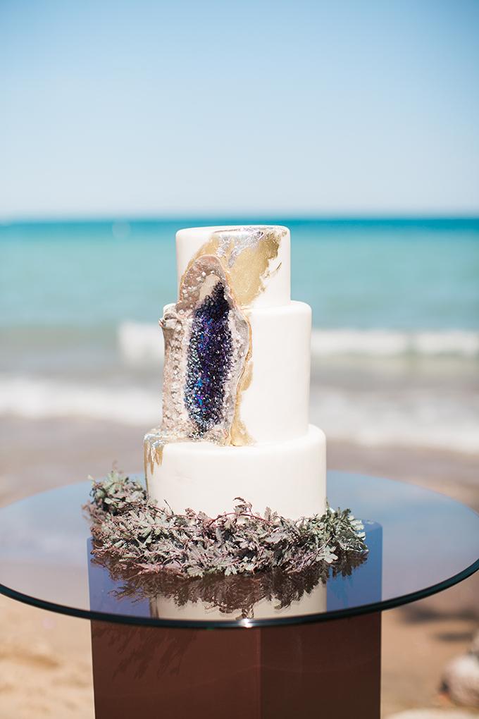 geode cake | Erin Stubblefield | Glamour & Grace