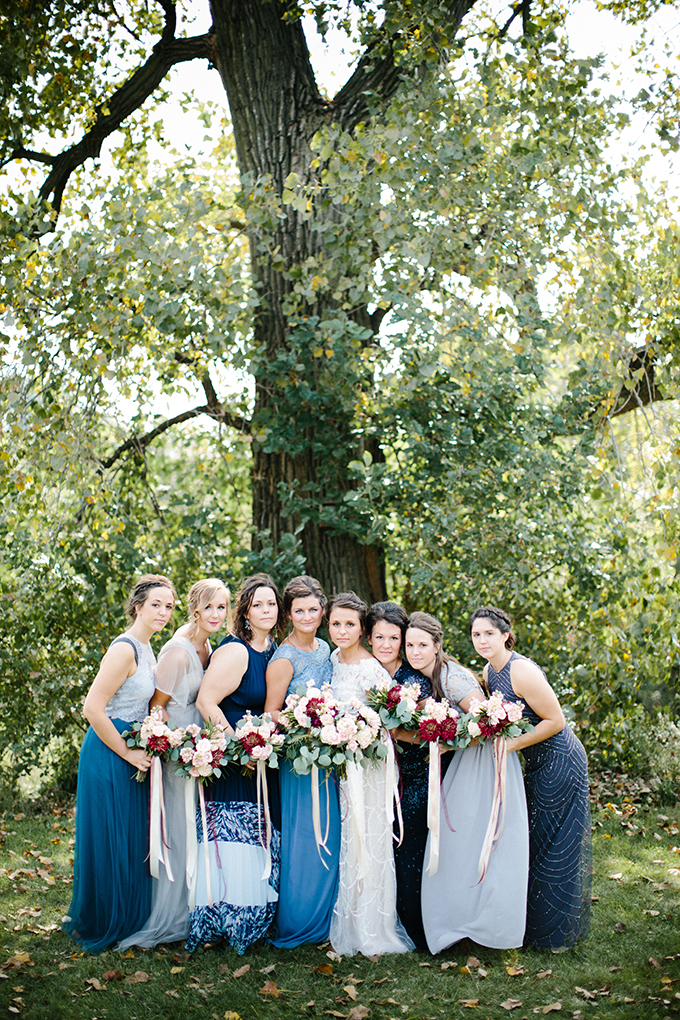 blue bridesmaids | Danielle Stewart Photography | Glamour & Grace