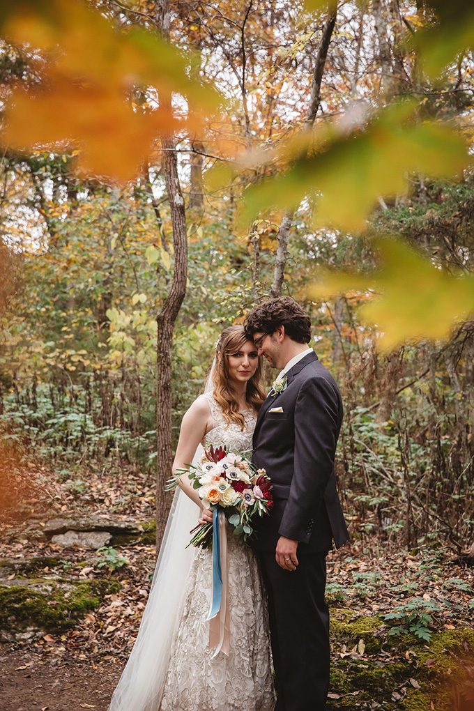 vintage fall barn wedding | Parker Young | Glamour & Grace-16