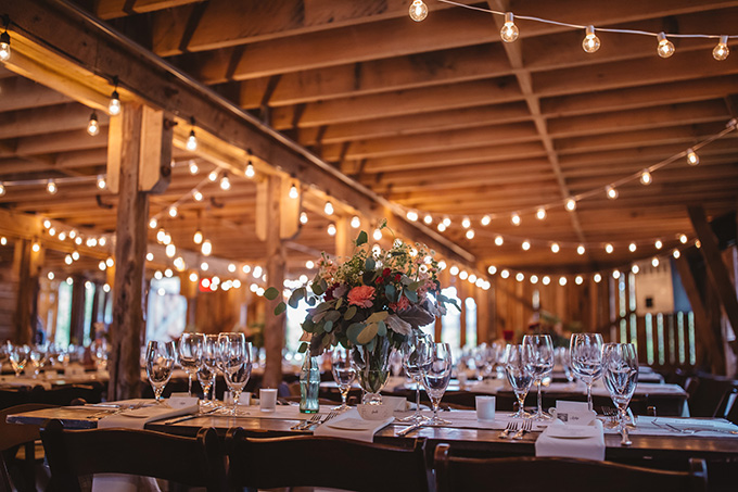 vintage fall barn wedding | Parker Young | Glamour & Grace-24