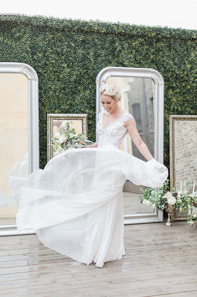 romantic loft bridal portraits | Tiffaney Childs Photography | Glamour & Grace