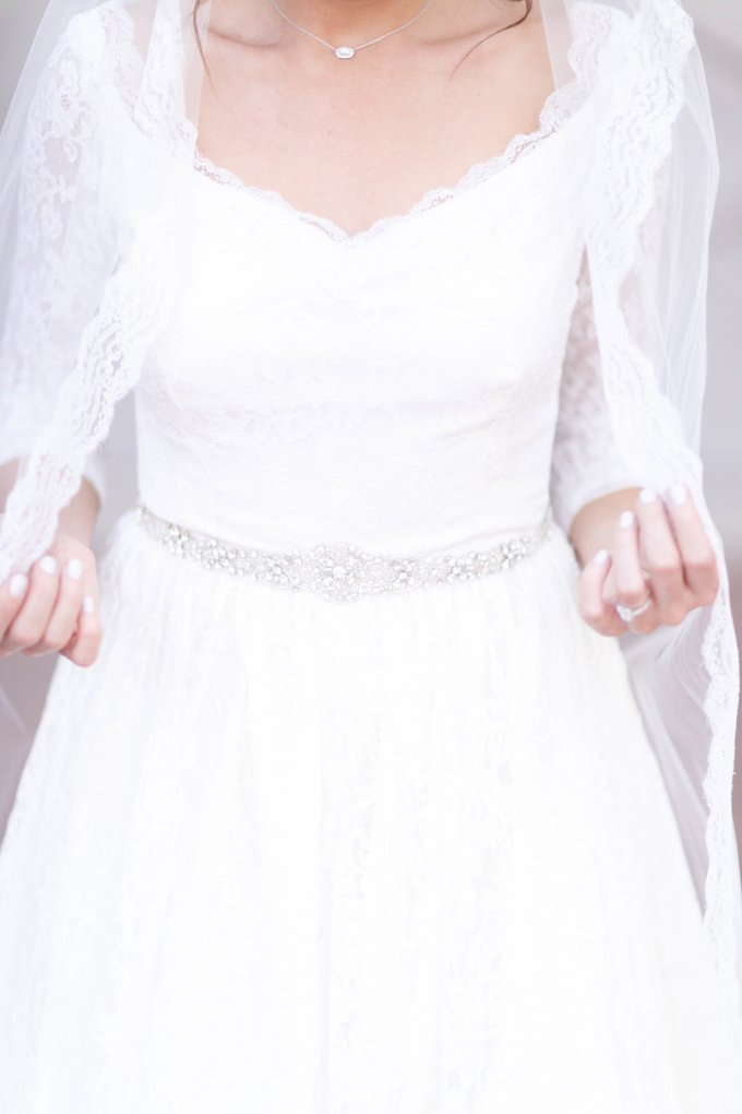 3rd generation wedding dress | Virginia Ashley Photography | Glamour & Grace