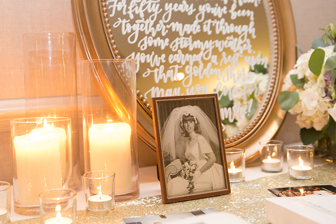 romantic 50th anniversary | Heather Palecek Photography | Glamour & Grace