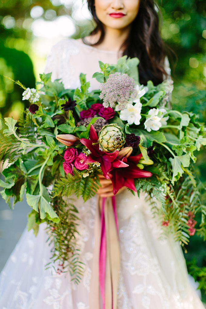 jewel tone #bouquet | Megan Clouse Photography | Glamour & Grace