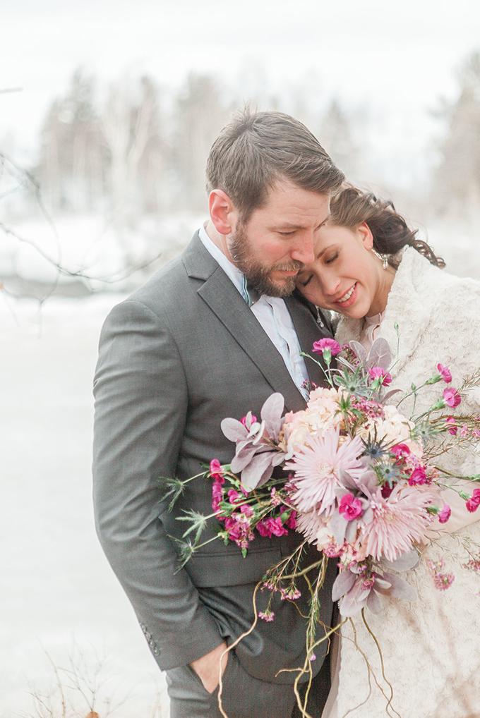 pink winter wedding inspiration | Studio under the Sky | Glamour & Grace