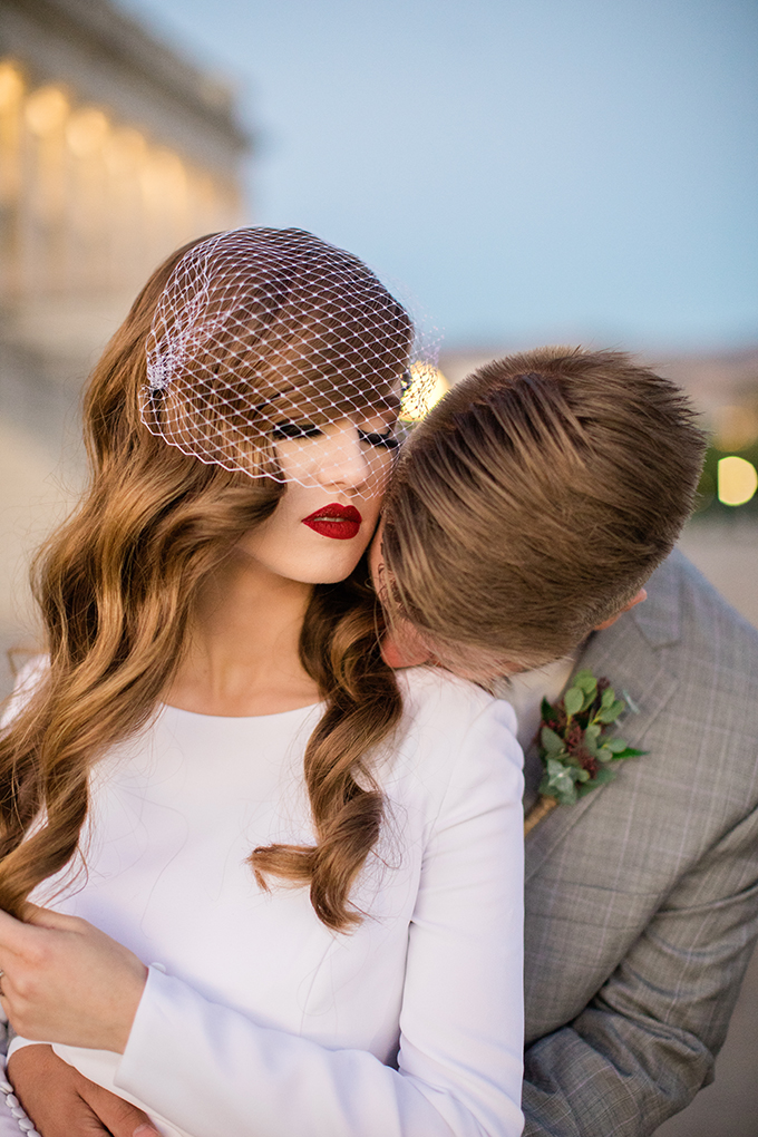 vintage glam wedding portraits | Whitney Hunt Photography | Glamour & Grace