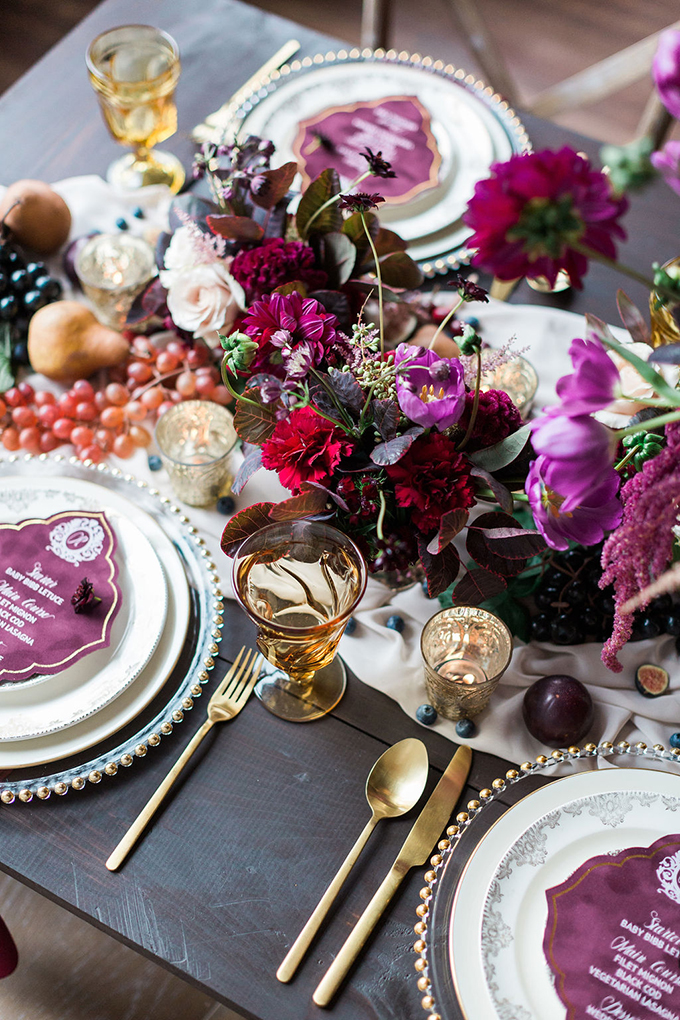 romantic whimsical burgundy wedding ideas | Nicole Flores Photography Co. | Glamour & Grace