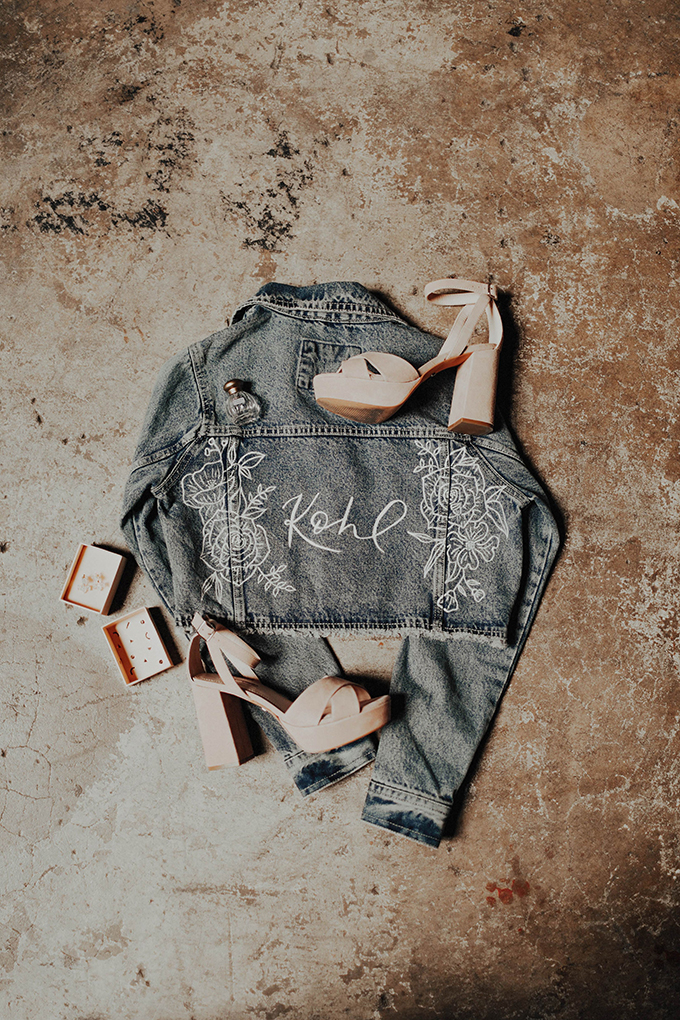 bridal jean jacket | Lauren Apel | Glamour & Grace