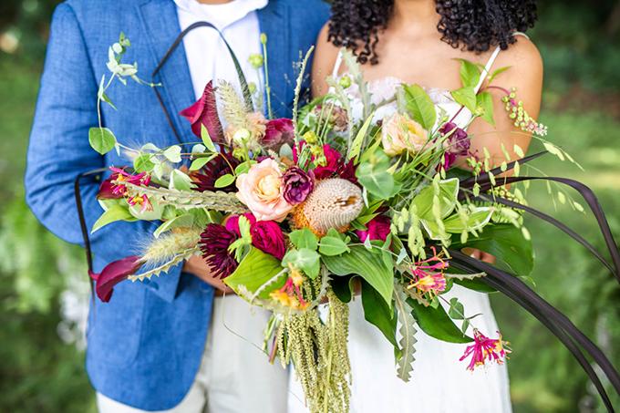 tropical boho wedding ideas   Hannah Cessna Photography   Glamour & Grace