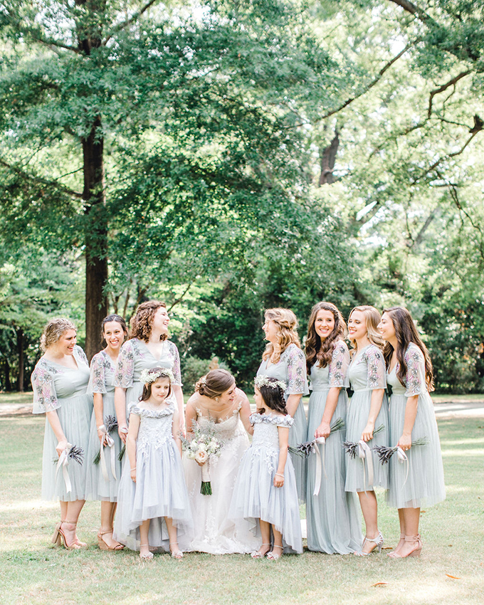 pastel garden wedding | Tierney Riggs Photography | Glamour & Grace