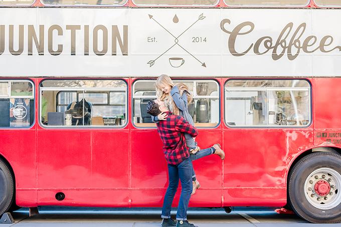 fall coffee engagement session | Amanda Zabrocki Photography | Glamour & Grace