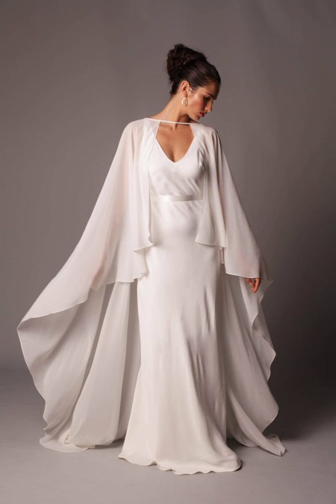 Ethereal Full Length Georgette Cape