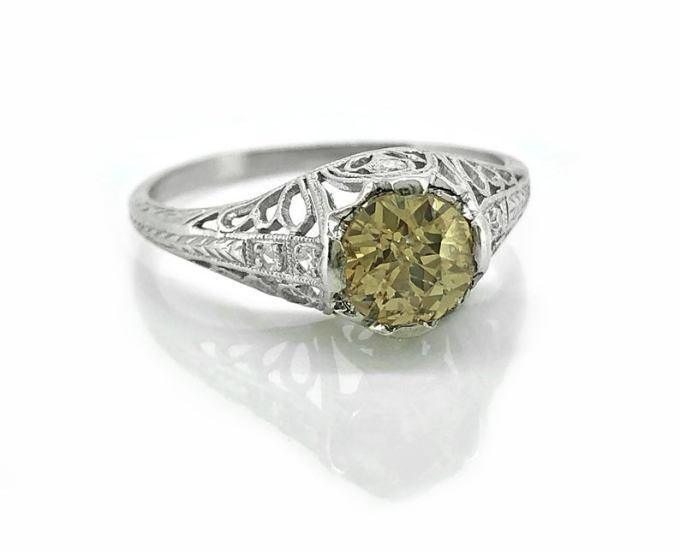 Late Edwardian Diamond Engagement Ring