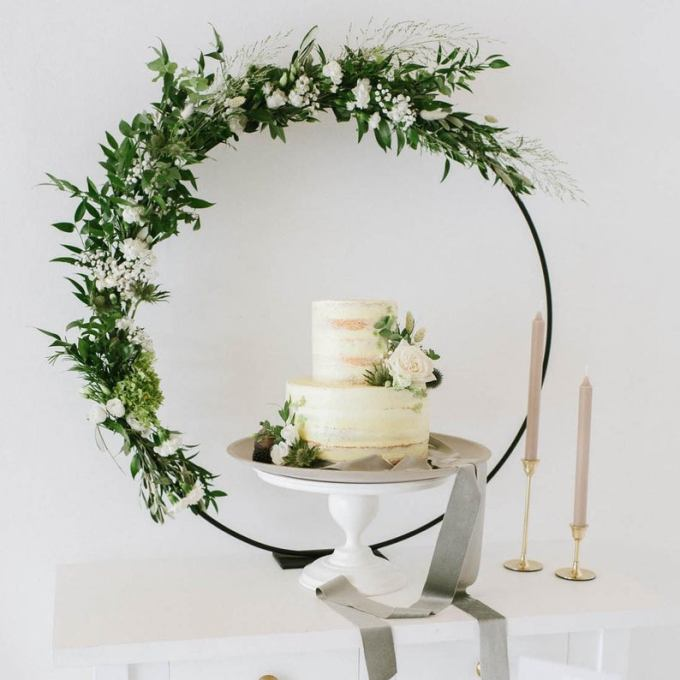 Hoop Wedding Cake Backdrop
