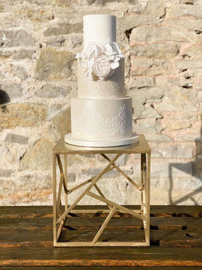 Geometric Wedding Cake Stand