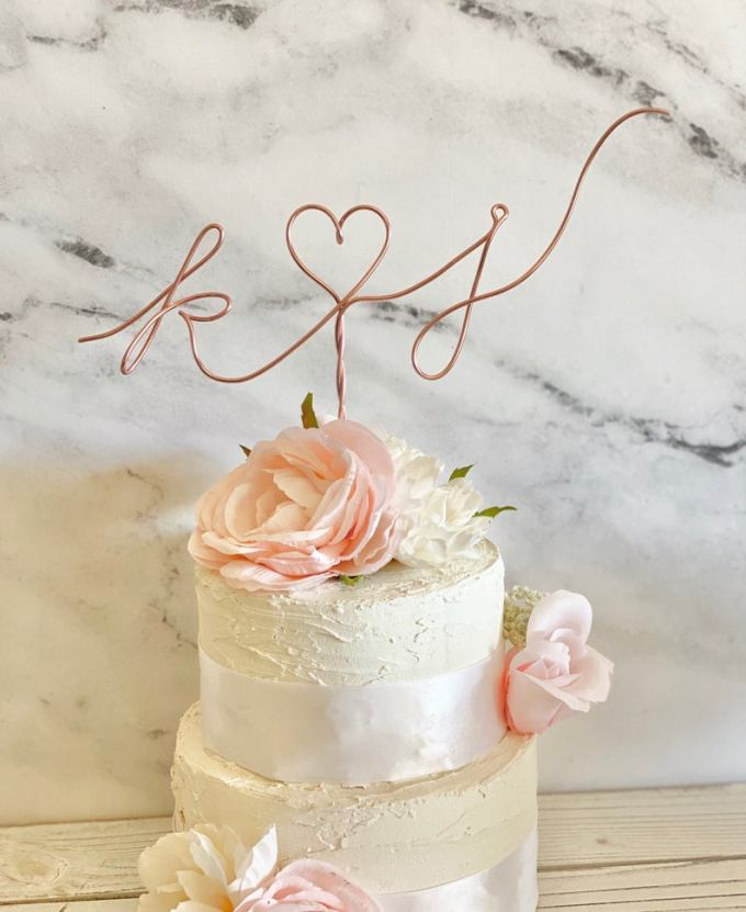 Wire Heart Cake Topper