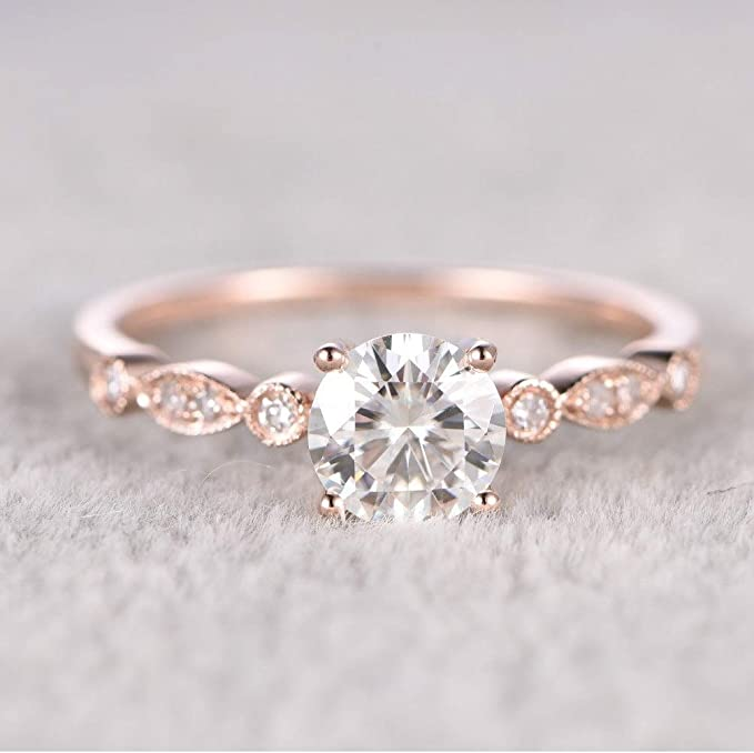 Round Morganite Engagement Ring