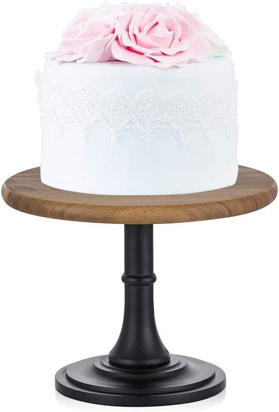 Wood Cake Stand