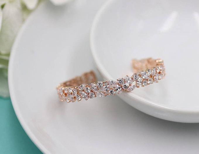 Rose Gold Bridal Cuff