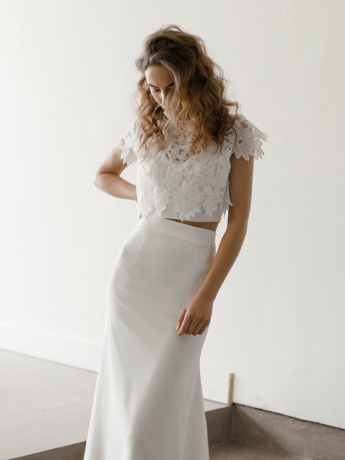 Boho Floral Lace Bridal Top