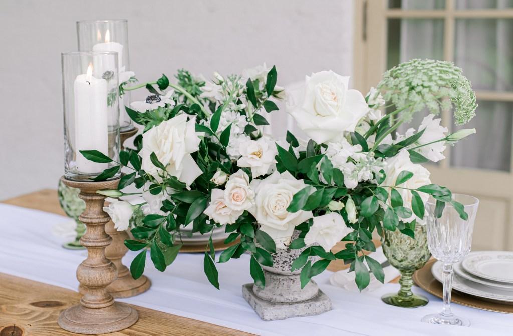 White and Green wedding shoot Georgia
