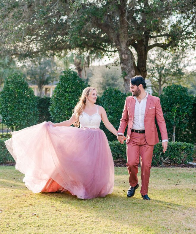 Styled Shoot Gown Rental Mauve Mr Pretty Skirt