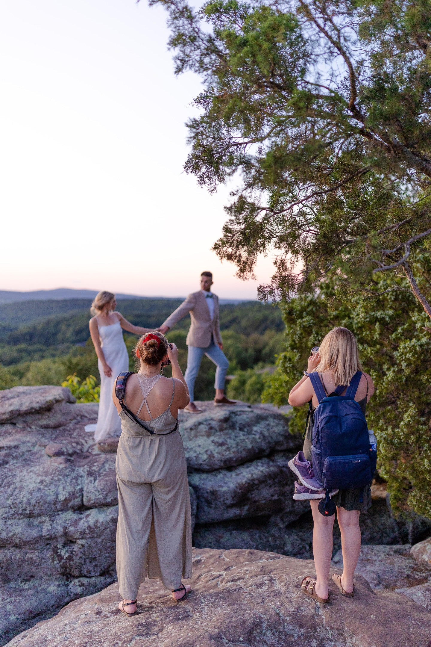 Adventure Elopement styled session bts marketing materials