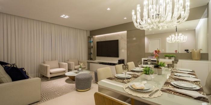 Decoração de luxo para apartamentos pequenos
