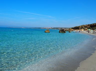 Beach walking distance from Tharros
