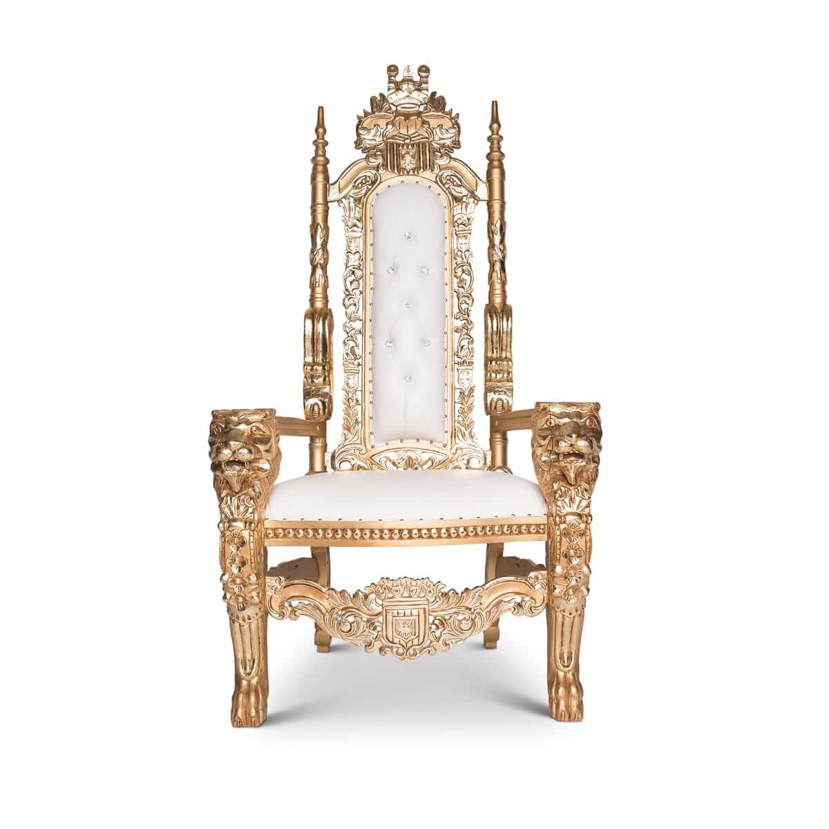 Royal Chair Rental Gold Trim Lion Throne Chair Glam Party Rentals