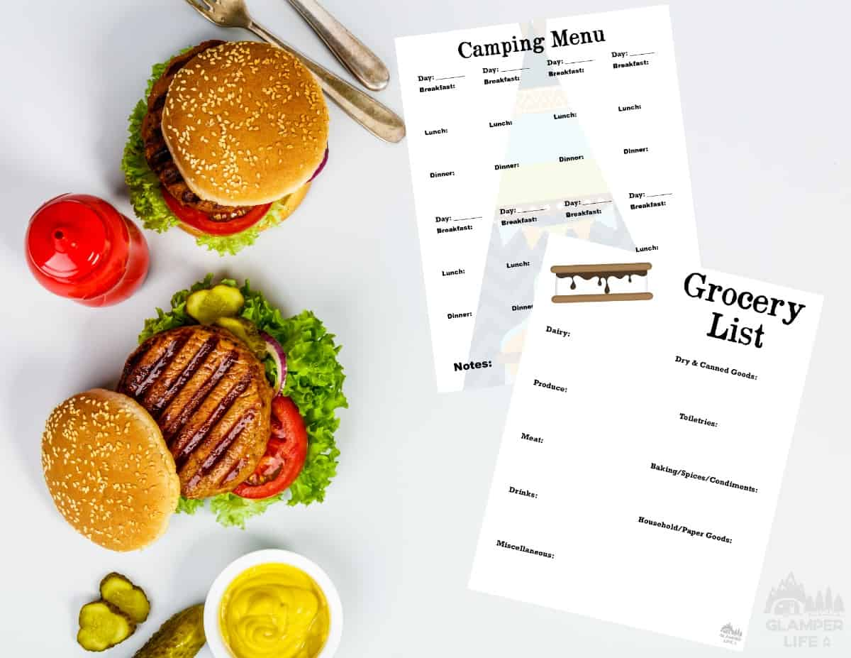 Printable Camping Menu And Grocery List