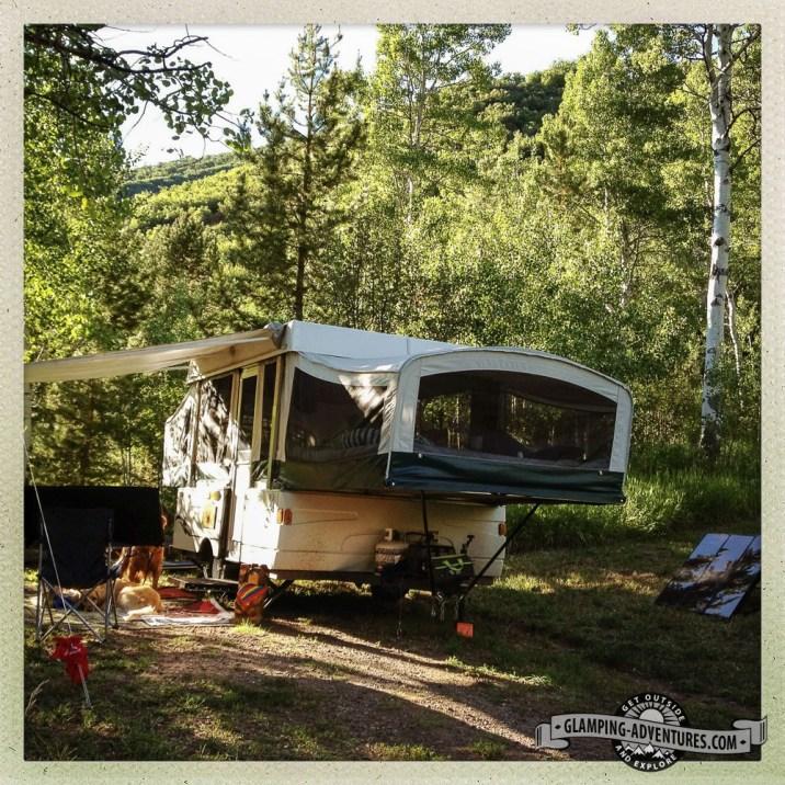 North Fork Campground, Flat Tops Wilderness.