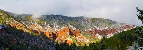 Cliff near Sylvan Lake SP, Eagle CO.