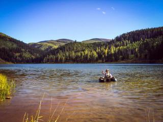 Having a fun on Sylvan Lake.