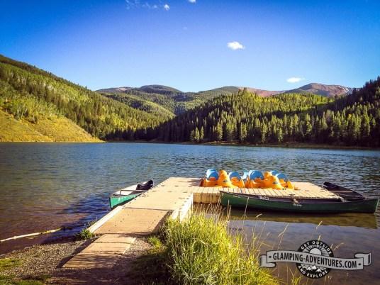 Rentals along the dock. Sylvan Lake SP, Eagle CO.