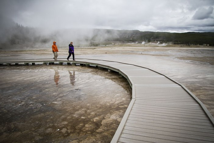 Boardwalk by the Grand Prismatic Spring, YNP.