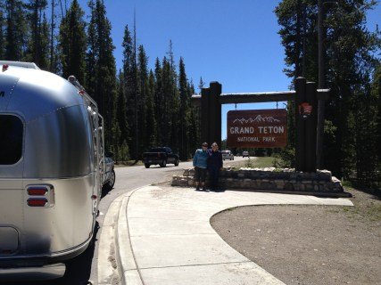 Entrance to the Grand Tetons NP.