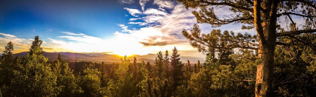Beautiful sunset, Panoramic Point, Golden Gate State Park, CO.