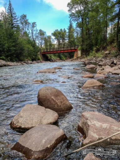 Bridge that takes you to the campground. Redstone Campground, Carbondale, CO