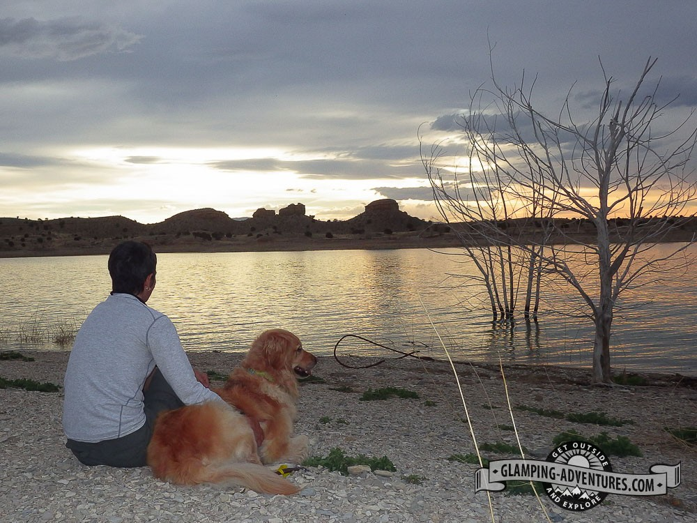Watching the sunset on the peer. Lake Pueblo SP, Pueblo, CO.