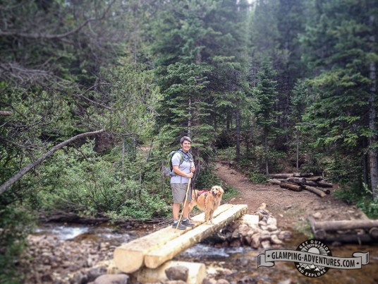 We love the little bridges along the trail. Indian Peaks Wilderness.