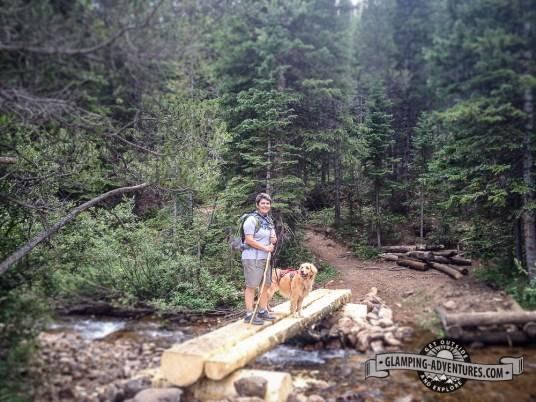 We love the little bridges along the trail. Indian Peaks Wilderness.