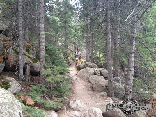 Beginning of the trail, Indian Peaks Wilderness.
