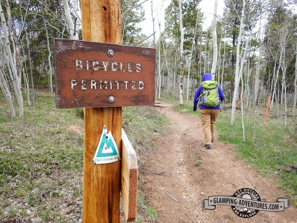 Beginning our second Colorado Trail hike. Kenosha Pass, CO