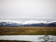 There are some beautiful mountains under thought thick clouds. Kenosha Pass, CO