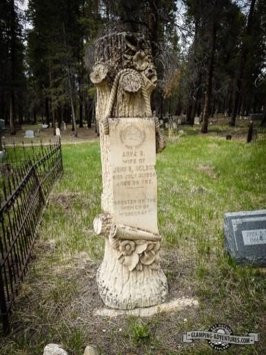 Woodmen of the World tombstone. Evergreen Cemetery, Leadville, CO
