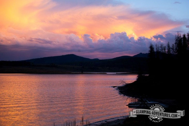 Sunset at Steamboat Lake.