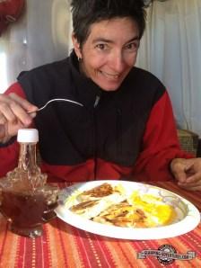 Natasha loves her breakfast!